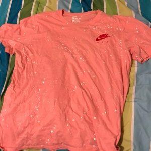 Pink splattered Nike air shirt